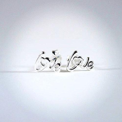 """""""Love"""" Sterling Silver earrings"""