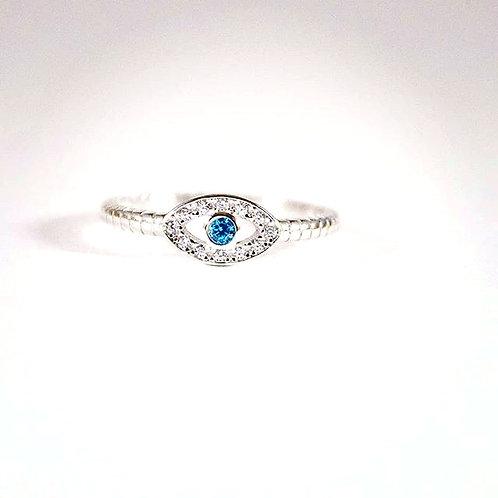 Sterling Silver Goddess Eye Ring