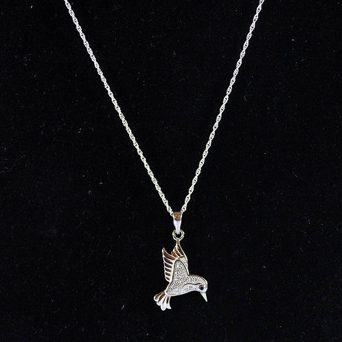Sterling Silver Humming Bird Necklace