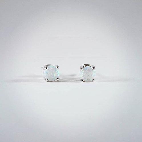 White opal stone w/sterling earrings