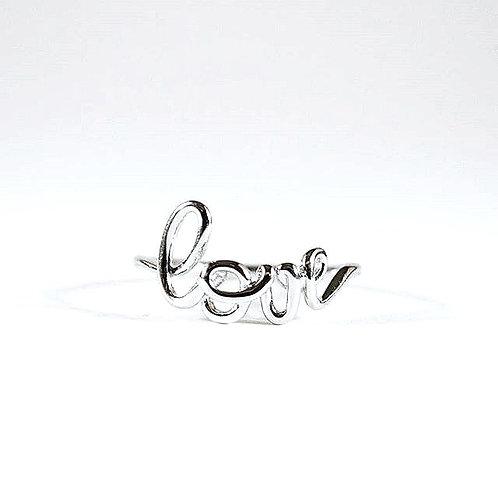 "Sterling Silver ""Love"" Ring-sz 8"