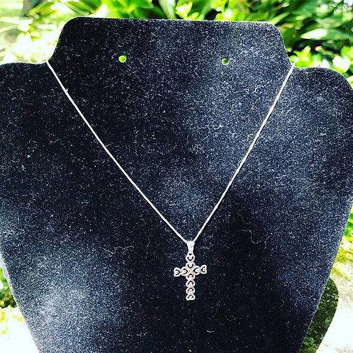 Sterling Silver Heart Cross