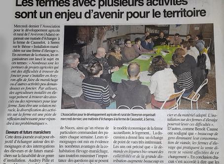 Débat lancé chez Causselot au sujet des fermes avec plusieurs activités, l'avenir ?
