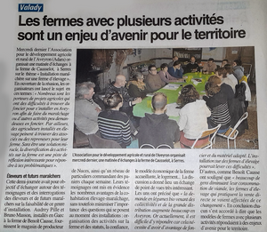 article de presse Centre presse chez Causselot