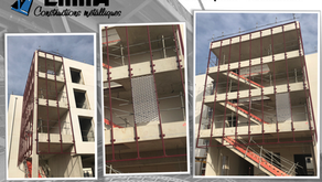 Réalisation d'habillage de façades pour la Base Aérienne BA105 - EVREUX-FAUVILLE (27930)
