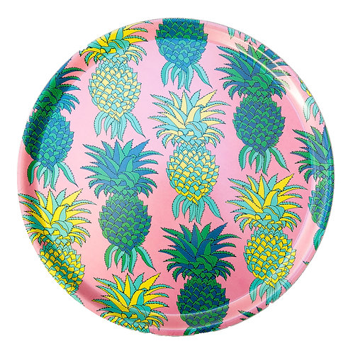 Pineapples Round Tray