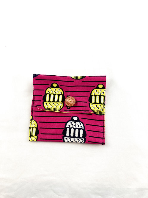 Pink wax pouch bag