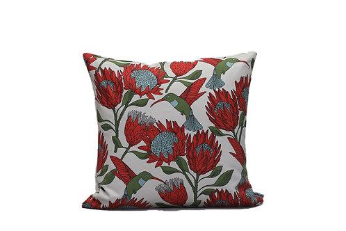 Cuscini Protea | Cape2Milano | cuscini africani | design sudafricano | Copri Cuscino Protea e Collibrì | Arredamento casa