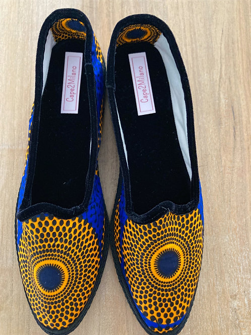 Scarpe Friulane | Cape2Milano | Velvet Shoes | Papusse | Scarpets | Velluto | Tessuti Africani | Wax fabric | Friuli
