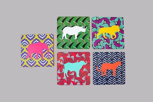 Sottobicchieri   Coasters   Lombardia   Etnico   Stampe Africane   African prints   Sughero   Melamina   Design   Moda Africa