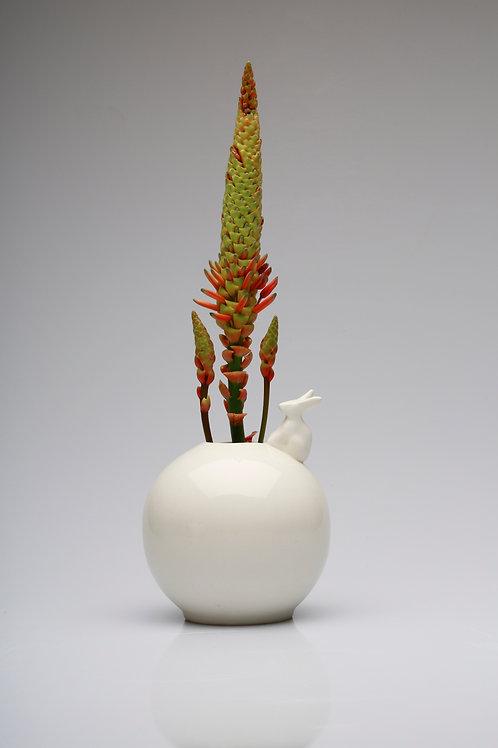 Round vase | Prodotto in Sudafrica | artigianato dal Sudafrica | Bunny vase | Rabbits | Aloe vera Sudafrica | Trezzo