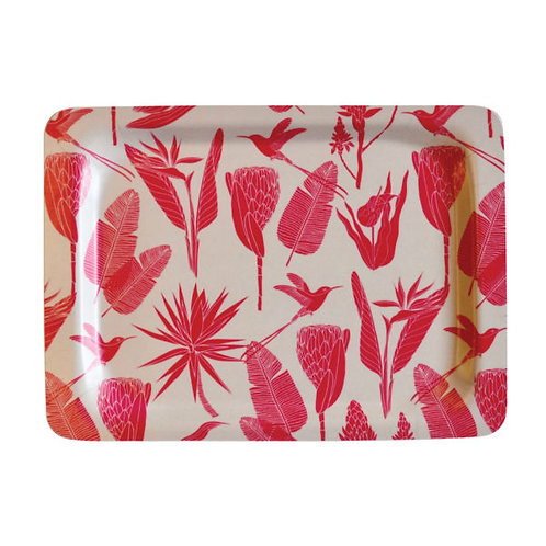 Botanicals Pink  Small Tray