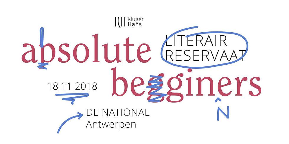 Literair Reservaat - Absolute beginners