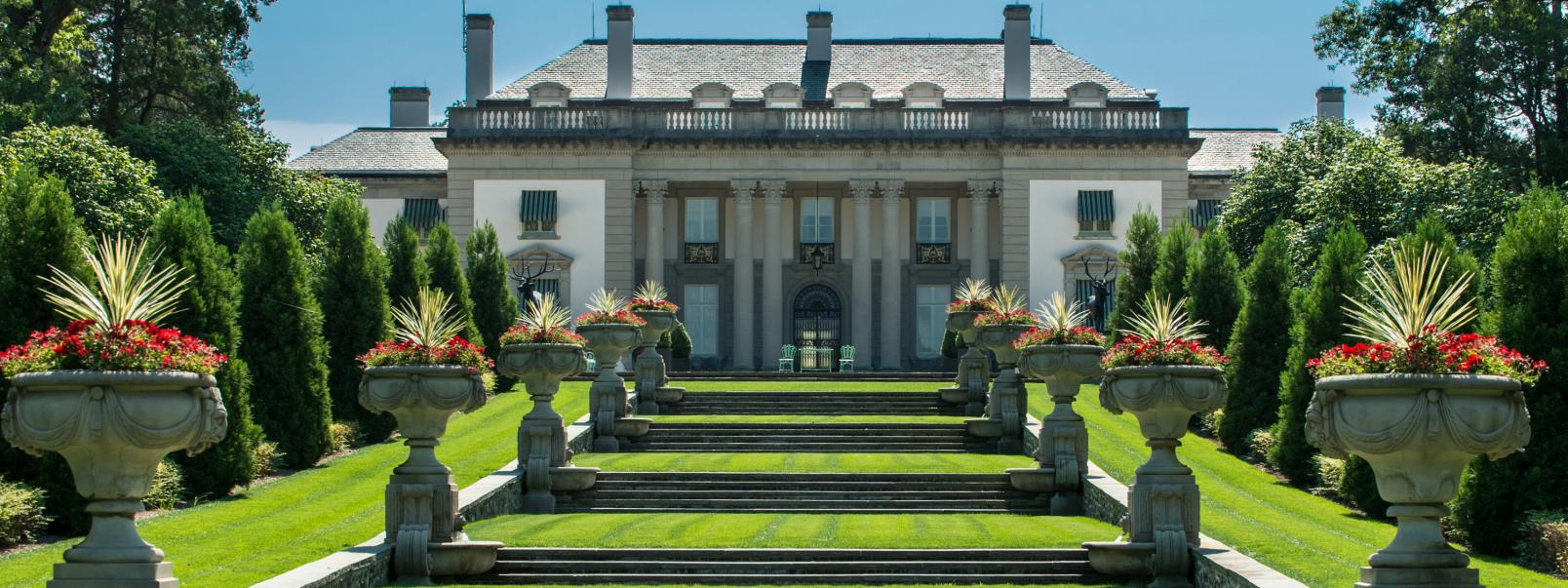 Nemours Mansion and Gardens surrounding Hospital