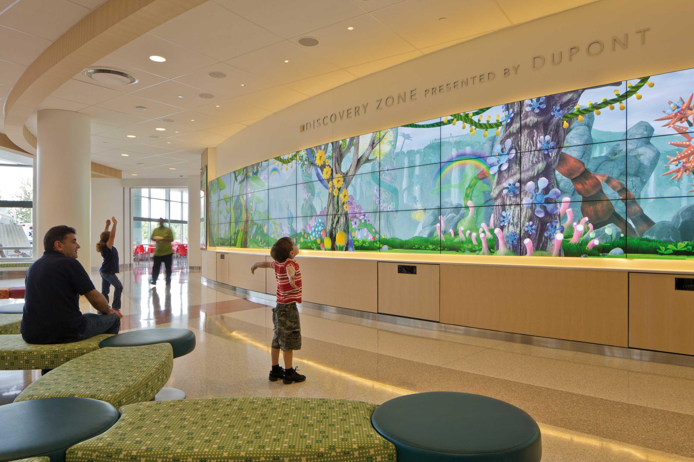Interactive Wall in Atrium