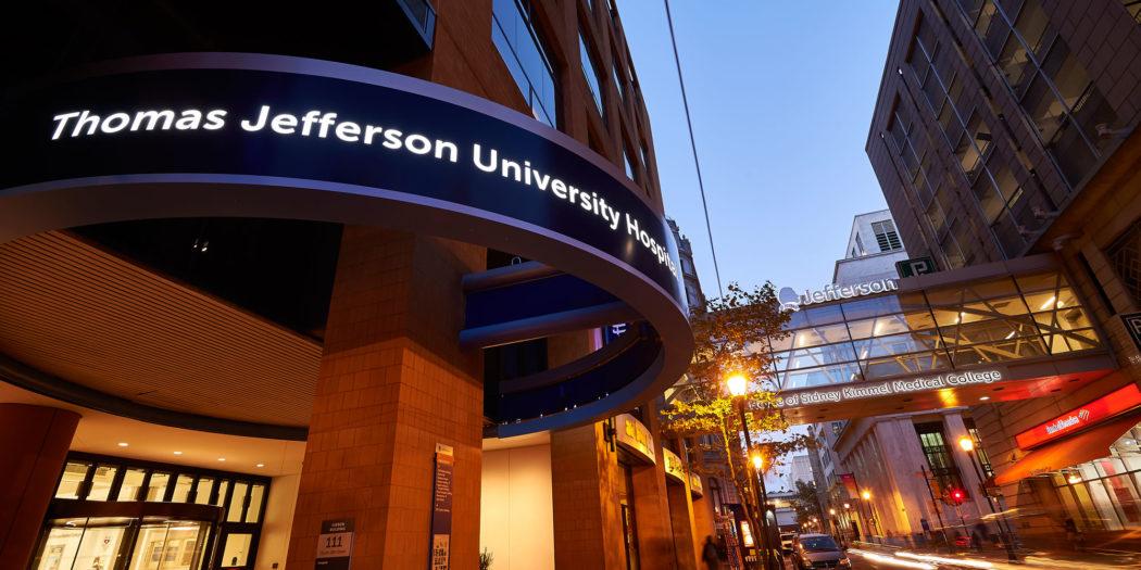 Jefferson Hospital at Night