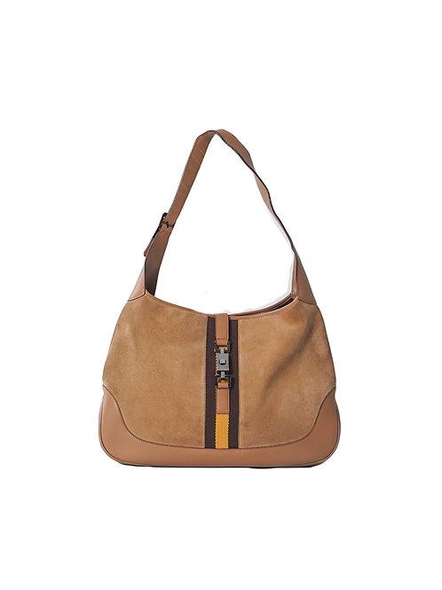 Vintage Gucci Jackie Suede & Leather Shoulder Bag