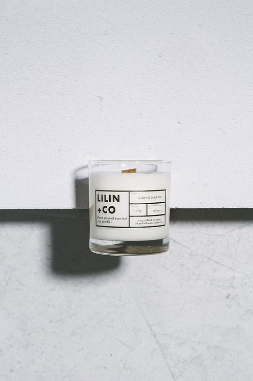 Lilin + Co Lychee & Black Tea Candle