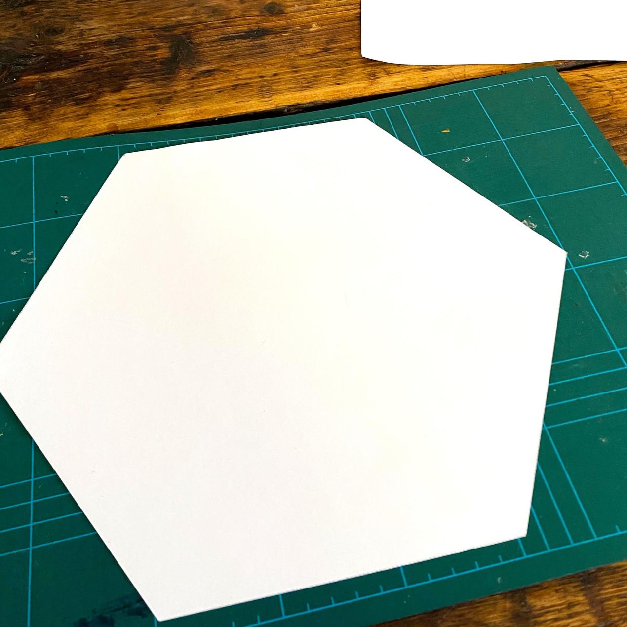 Make a hexagon template