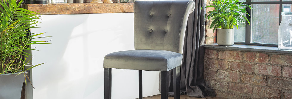 2-10 SOFIA Luxury Dining Chair in Grey (select Quantity)