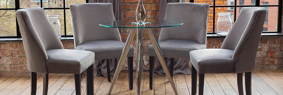 SKYE Dining Table with 2 or 4 Grey Elle Chairs