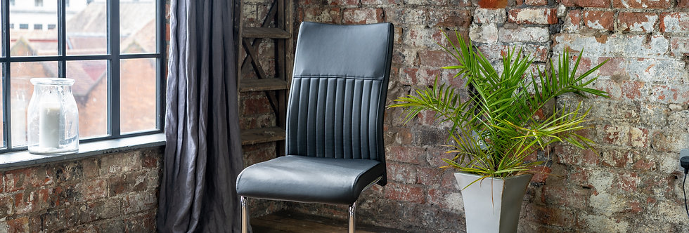 4-12 CYRA Dining Chair In Black