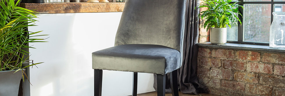 2-10 Elle Luxury Dining Chair in Grey (select Quantity)