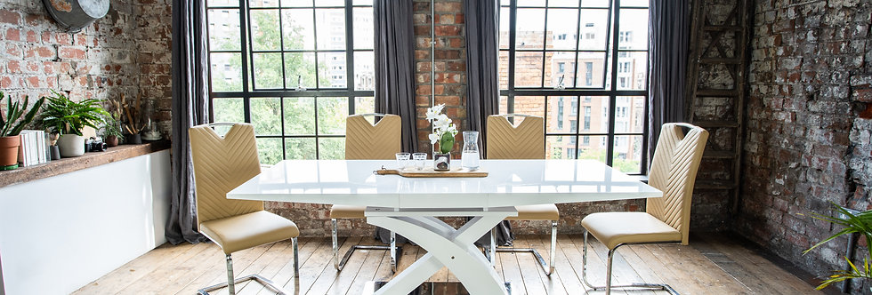 Lyra Dining Set with 4, 6 or 8 Chairs