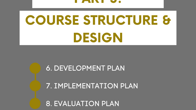 Planning Your Course Structure and Design: Part 3