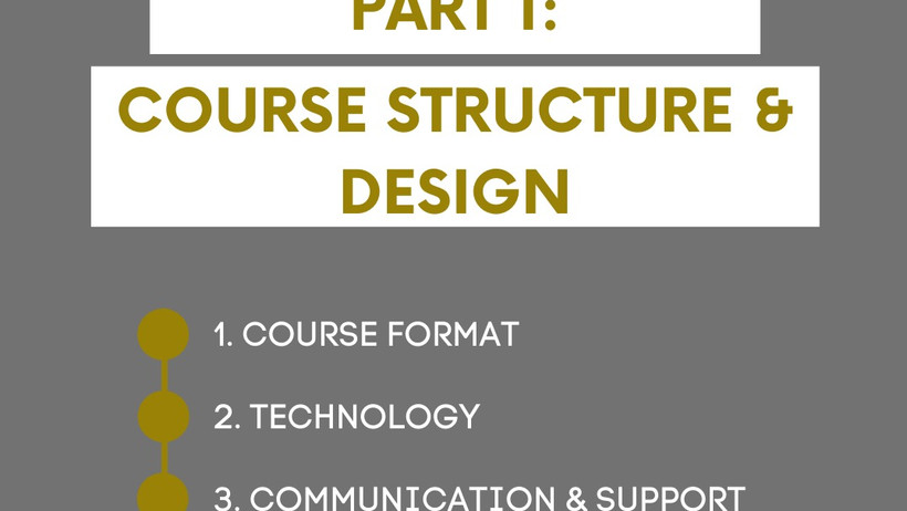 Planning Your Course Structure and Design: Part 1