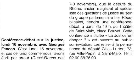2015-11-09-OF-SM-Annonce_de_la_confÇrence_de_Georges_FENECH_sur_le_thäme_La_Justice_en_danger_le_lun