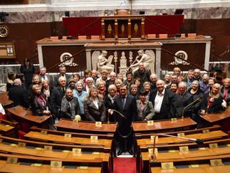 J'ai accueilli l'Association Histoire et Patrimoine de de la Côte d'Emeraude à l'Assemblée natio