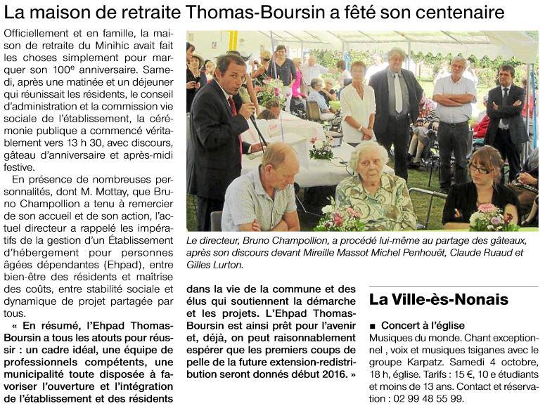 2014-09-29-OF-SM-100 ans Maison de retraite Thomas Boursin-Minihic sur Rance