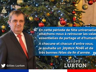 À chacune et à chacun d'entre vous, je souhaite un joyeux Noël et de très bonnes fêtes de fin d&