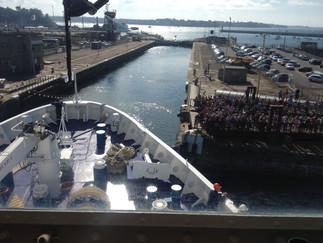 Photoreportage du paquebot de croisière Berlin à Saint-Malo