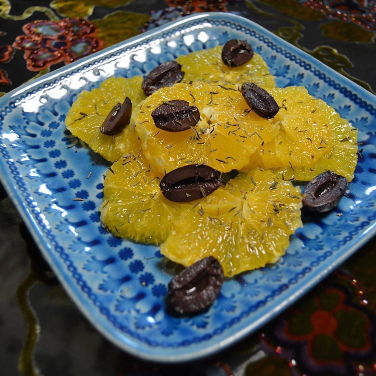 Orange and olive salad