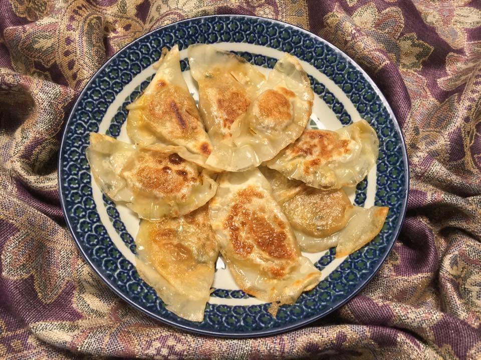 Half-moon butternut squash dumplings