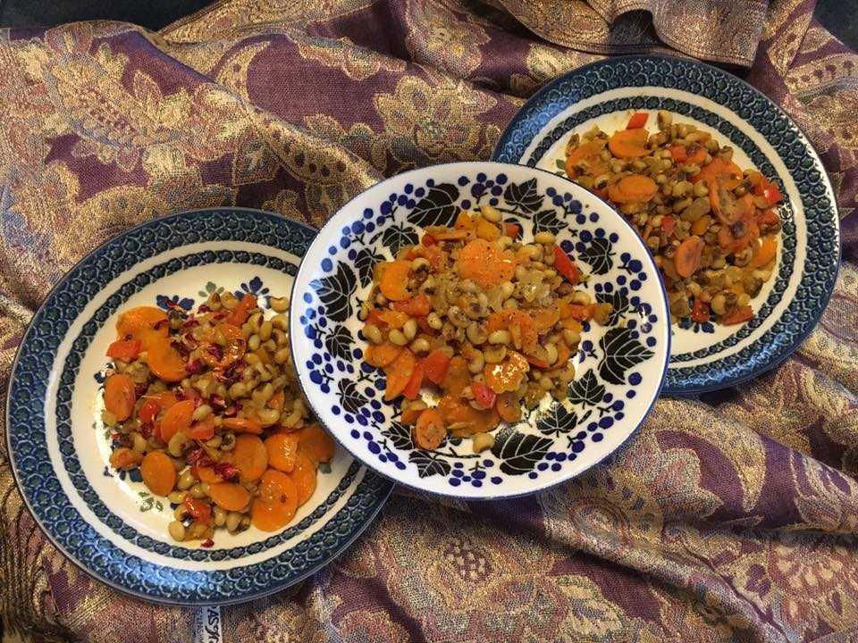 Persian black-eyed pea and carrots