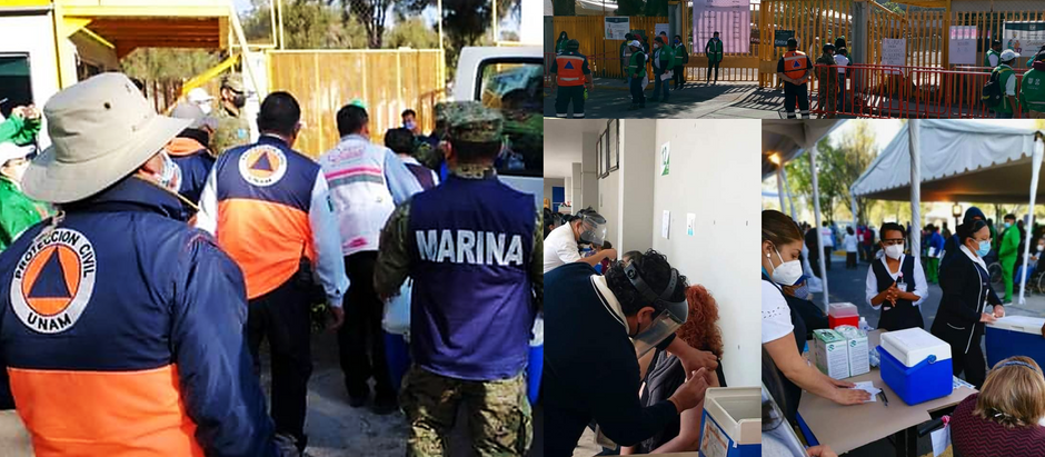 México cuenta con la UNAM, Prepa 1 es centro de vacunación con éxito.