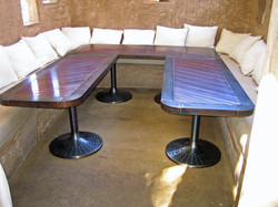 Aged Metal Tables