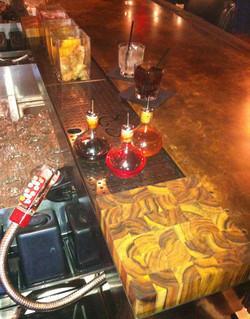 Bar Scupper Rail & Brass Bar Top