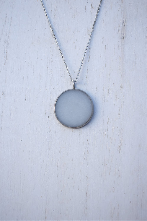 Stainless Steel Bezel Necklace