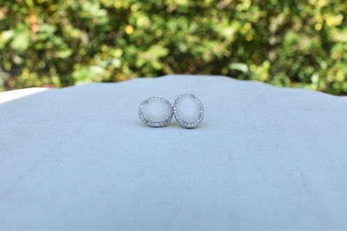 Large Oval Halo Earrings