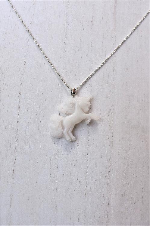 Unicorn Rearing Necklace