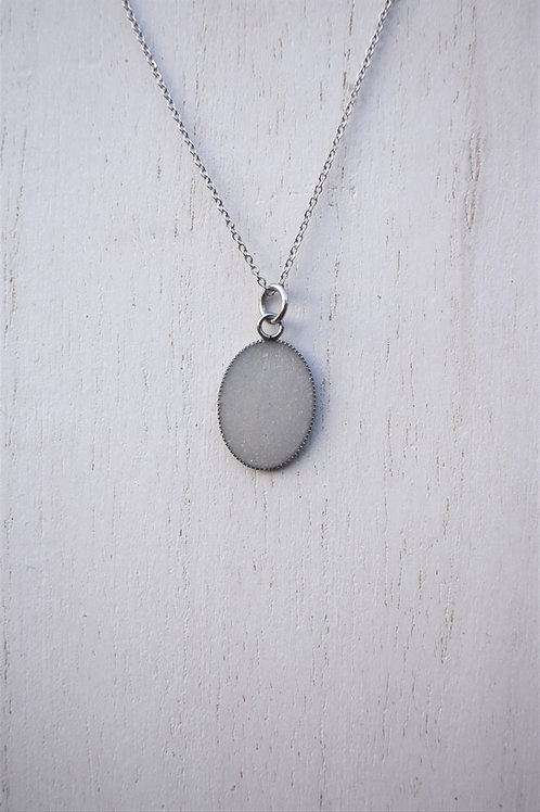 Small Stainless Steel Oval Necklace