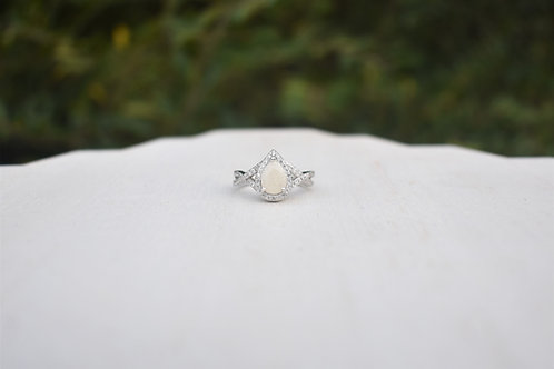 Milk Drop Halo Ring