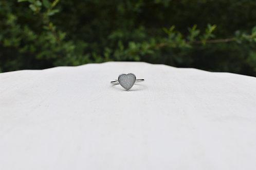 Heart Bezel Ring