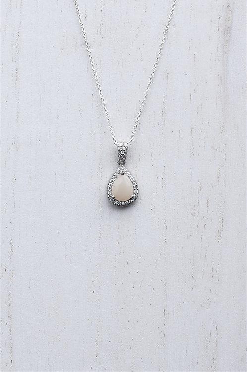 Milk Drop Halo Necklace