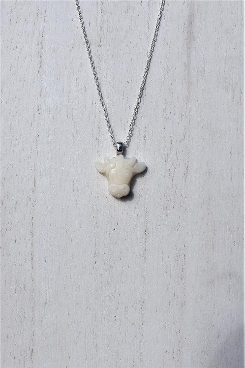 Cow Head Necklace