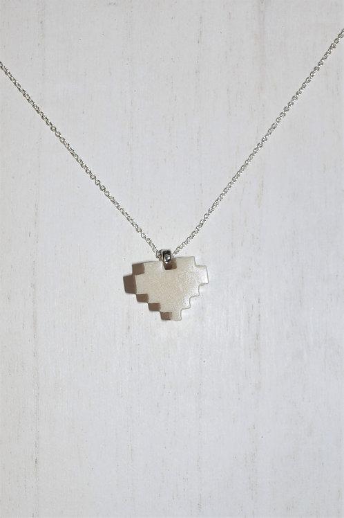 8 Bit Heart Necklace